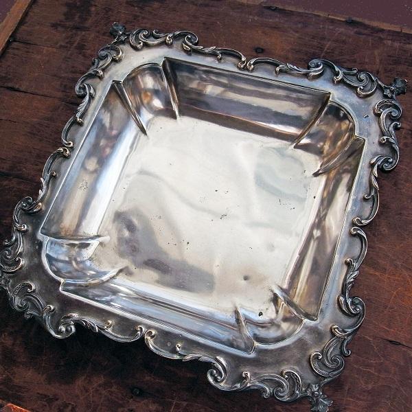 画像1: シルバープレートの深皿