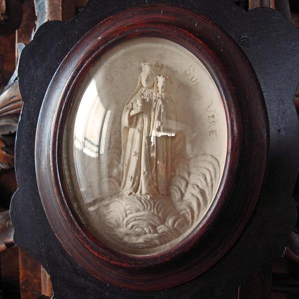画像1: 聖母子像のガラスドームフレーム