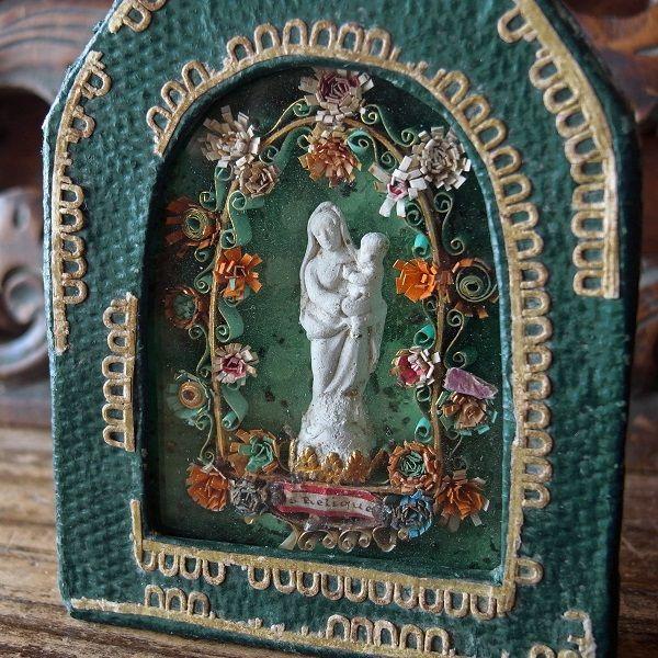 画像1: 聖母子像のルリケール
