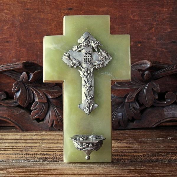 画像1: 大理石の壁掛け用十字架