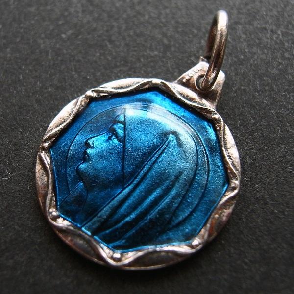 画像1: ルルドの聖母のエナメルメダイb