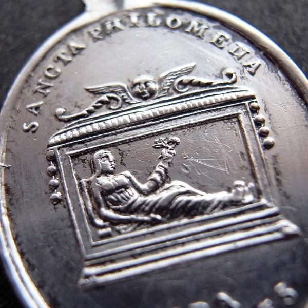 画像1: 聖女フィロメナのシルバーメダイ