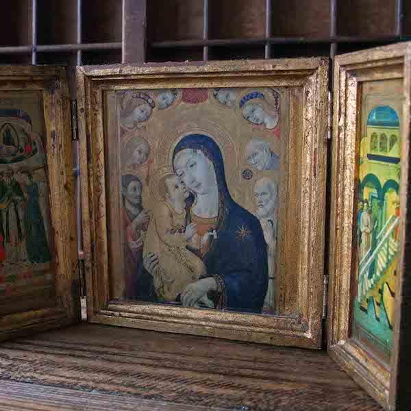 画像1: ゴシキヒワの聖母の扉付き祭壇