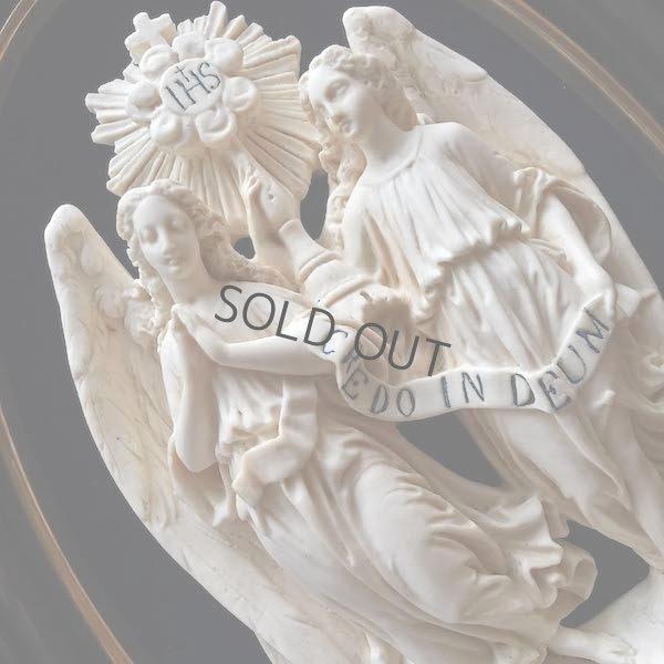 画像1: 二人の天使の大きなガラスドームフレーム