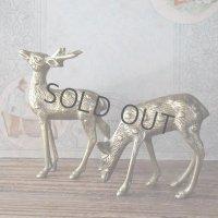 真鍮の鹿のセット