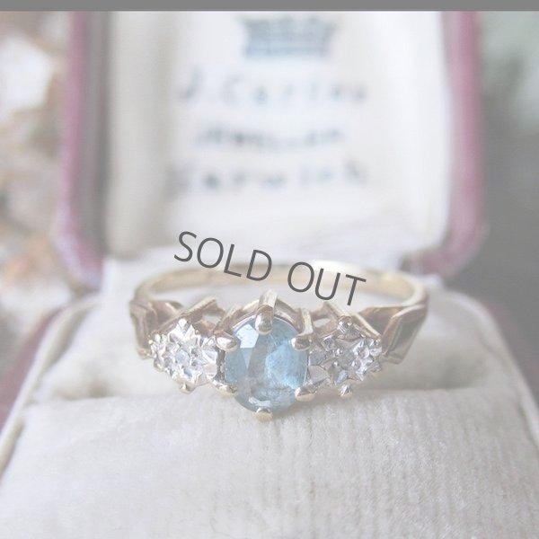 画像1: 9金×トパーズ&ダイヤモンドのリング
