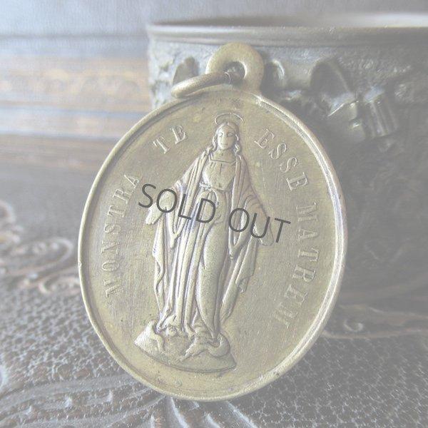 画像1: 聖母マリアの信心会の真鍮製メダイ