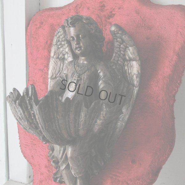 画像1: 赤いベルベットの天使の聖水盤