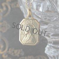 聖母マリアとバラの金鍍金メダイ