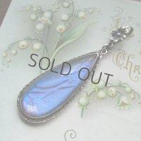 モルフォ蝶のシルバーペンダントa