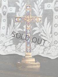 エナメル彩色の卓上十字架