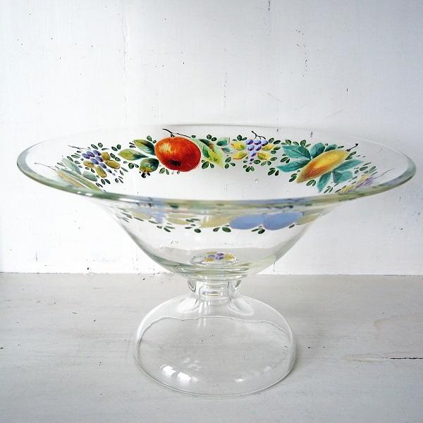 画像1: 手描きガラスのフルーツコンポート