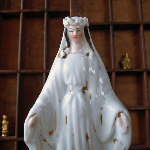 画像1: 白磁の聖母マリア像