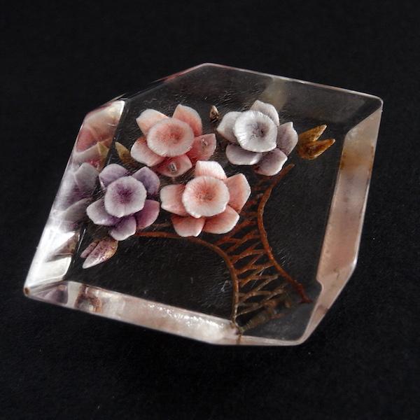 画像1: ルーサイトのお花のブローチ