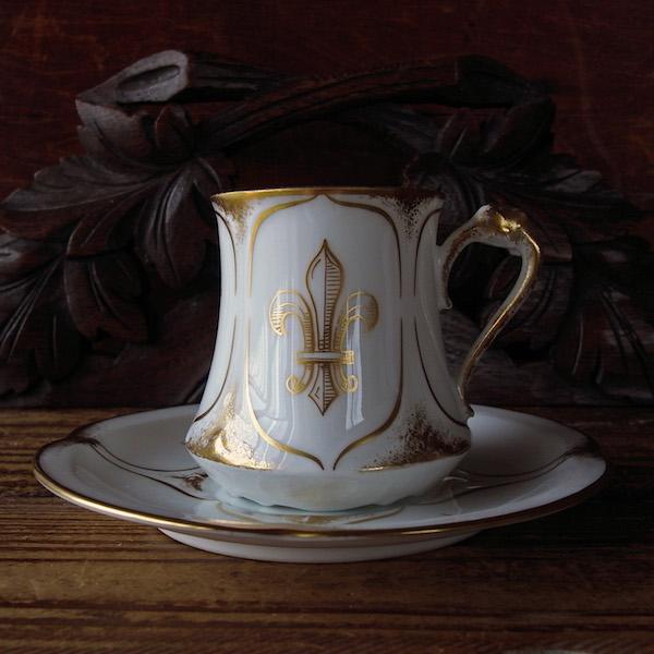 画像1: 百合の紋章のデミタスカップ