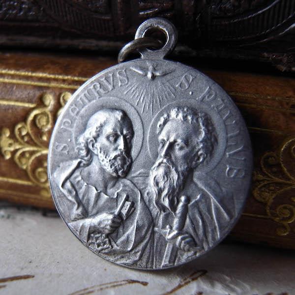 画像1: 聖ペテロとパウロのメダイ(ベネディクト15世)