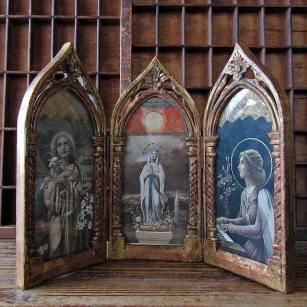 画像1: 聖母、セシリア、アグネスの三面祭壇