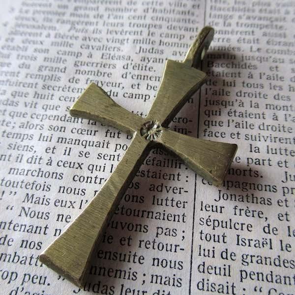 画像1: 真鍮の十字架