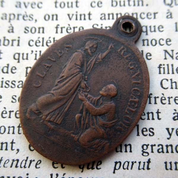 画像1: キリストと聖ペテロの19世紀半ばのメダイ