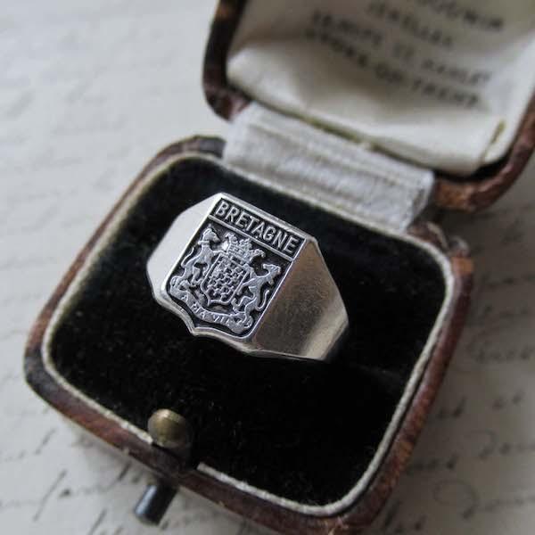 画像1: ブルターニュの紋章のシルバーリング