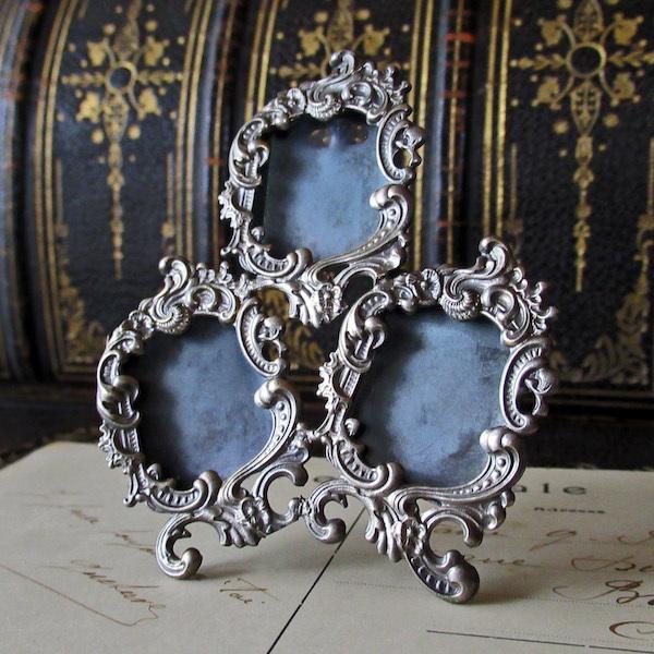 画像1: ロカイユ装飾の19世紀の写真立てb