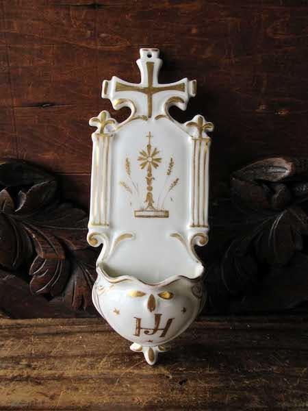 画像: 白磁の聖水盤