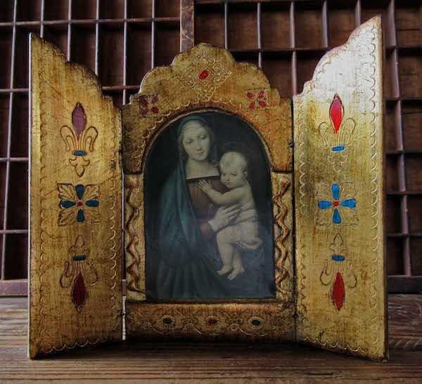 画像: 大公の聖母の扉付き祭壇(ラファエロ)