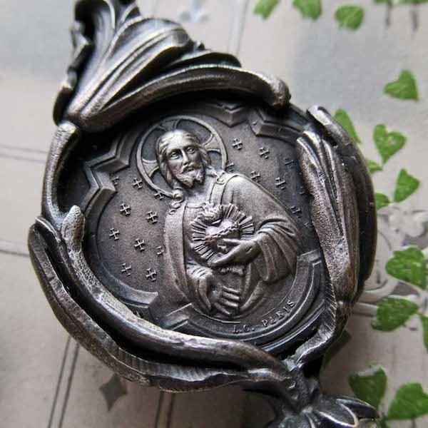画像: 聖心のイエスキリストのシーリングスタンプ